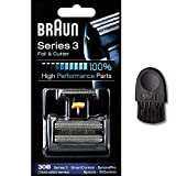 Braun Shaver Parts 30b - Braun Series 3 Combi 30b Form 4700 81387936 7000/4000 series Shaver Replacement Foil and Cutter Cassette Cartridge with Cleaning Brush (30B)