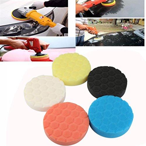 Gessppo 5PCS Car Sponge Polishing Pad Colorful Waxing Buffing Pads For Car Polisher For Car Polishing And Buffing, For General Car Paint, Furniture Polished Finish. - Polisher Massage Car