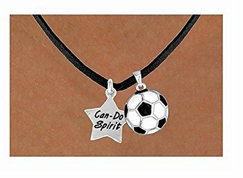 Can-do Spirit'' Star & Soccer Ball Necklace by Lonestar Jewelry