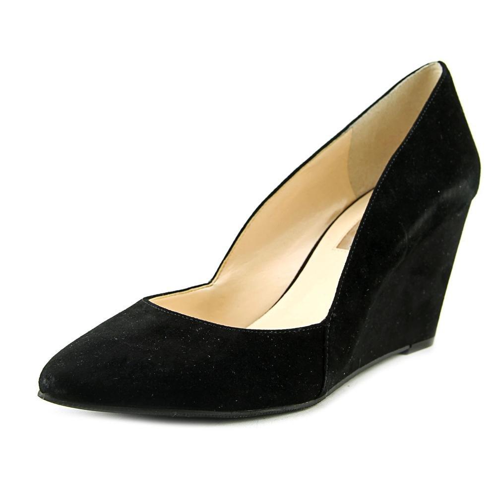 INC International Concepts Womens Zarie Leather Closed Toe Wedge Pumps B01MA1O1UN 7.5 B(M) US|Black Suede