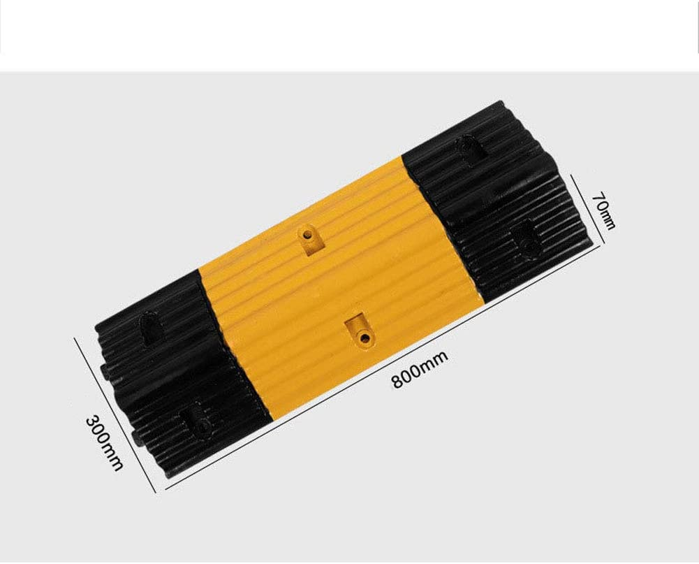 EXUVIATE Speed Bump Kerb Ramps Entrance Parking Lot Deceleration Pad Non-Slip Mat Community School Buffer Zone Shock Absorber Ramps Pad