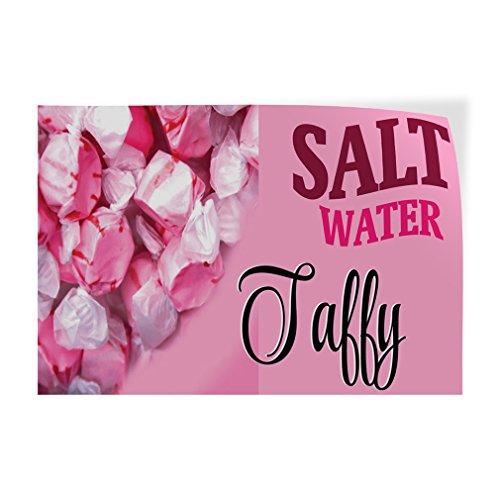 (Decal Sticker Multiple Sizes Salt Water Taffy #1 Restaurant & Food Salt Water Taffy Outdoor Store Sign Pink - 72inx48in, Set of 5)