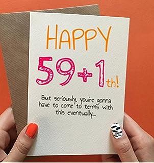 60th Birthday Card Funny Wife Friend