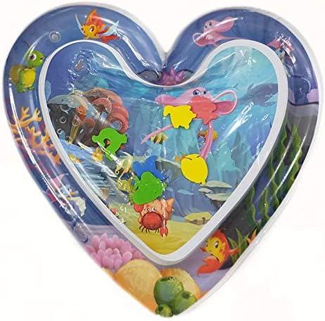 子ども プール インフレータブルベビーマットおなか時間水マットインフレータブルプレイ赤ちゃんの早期開発活動センターのためのマット完璧な感覚おもちゃ 噴水プール (Color : Blue, Size : 63X63CM)