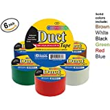 Bazic 1.88 X 10 Yard Solid Colors Duct Tape, Assorted Colors by Bazic