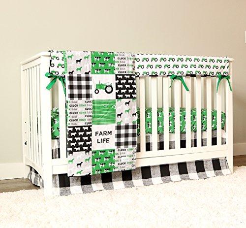 - Farm Live Tractor 4 Piece Crib Bedding Set