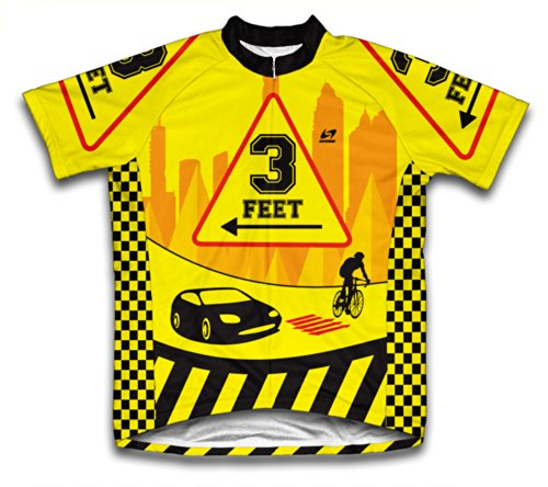 3 Feet Short Sleeve Cycling Jersey for Men - Size L (3 Feet Cycling Jersey)
