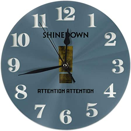 Image of Kncsru Reloj de Pared Silencioso Sin tictac Relojes de Pared Redondos, Relojes de atención con Brillo Reloj de Escritorio silencioso analógico de Cuarzo con Pilas