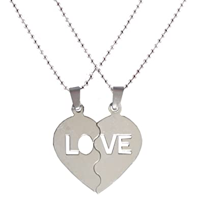Shiv jagdamba silver stainless steel couple pendant necklace set for shiv jagdamba silver stainless steel couple pendant necklace set for boy girl men mozeypictures Image collections