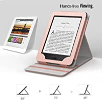 MoKo Kindle Paperwhite Funda - Premium Vertical Flip Smart Cover Case con Auto-Sueño/Estela - Oro Rosa