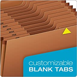Globe-Weis/Pendaflex Heavy Duty 12-Pocket Expanding File with Flap, Monthly Index, Legal Size, Brown, (R119MLHD)