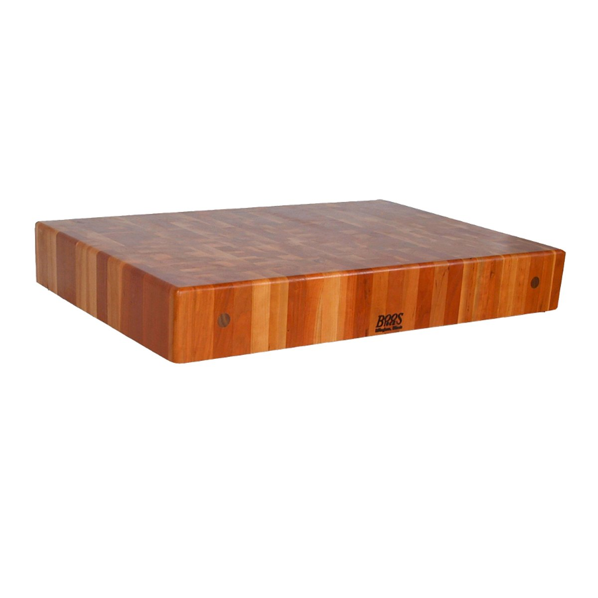 John Boos CHYBBIT4-2425 End Grain Butcher Block Island Top 24 x 25 x 4'' Cherry Wood