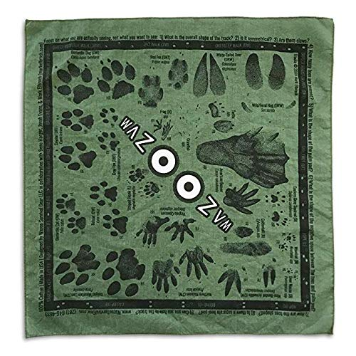 (BATTLBOX Wazoo Survival Gear Bandana with Pictures and Facts (Identifying Animal Tracks))