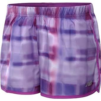 NEW BALANCE Women's Momentum Printed Running Shorts - Size: Small, Purple Cactus