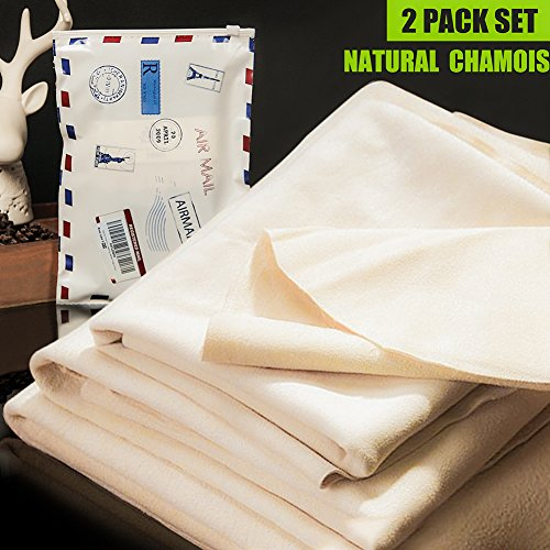 Car Cleaning Natural Chamois Cloth,Leather Auto Car Wash Drying Towel, For Car Vehicle Cleaning Accessories,3 Available Sizes.L/M/S (M:18