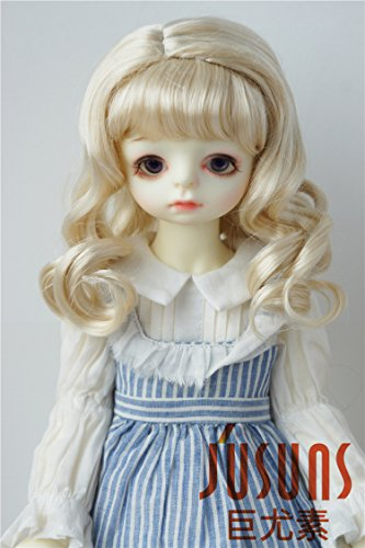 JD038 8-9'' Blond 1/3 SD doll wigs 21-23CM synthetic mohair Soft wave SD BJD doll - Mohair Blonde