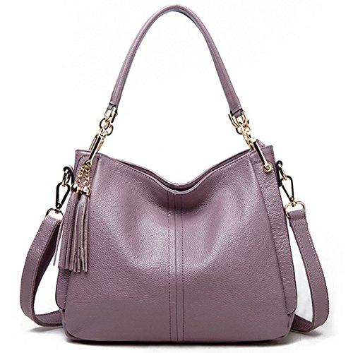 pelle morbida Viola borsa maniglia borsa Tote delle Vintage superiore cartella del a donne tracolla GAVERIL della SCq5Ewn