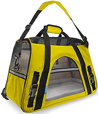 """Paws & Pals Airline Approved Pet Carriers w/ Fleece Bed For Dog & Cat - Soft Sided Kennel - 2018 Newly Designed, Large 19""""x10""""x13"""" Inches by Oxgord"""