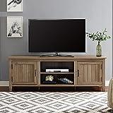 WE Furniture AZ70CS2DRO TV Stand, Rustic Oak