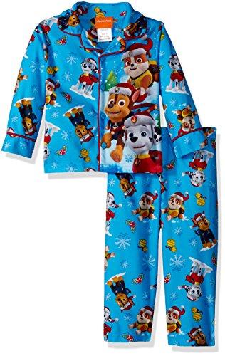Nickelodeon Boys' Toddler Paw Patrol Holiday 2-Piece Pajama Coat Set, Frosty, 2T ()