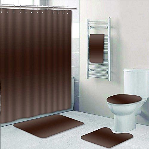 Outlet VROSELV 5 Piece Bathroom Set Includes Shower Curtain Liner Wood Kindling Tree