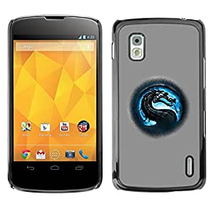 YiPhone /// Prima de resorte delgada de la cubierta del caso de Shell Armor - MK Dragon - LG Google Nexus 4 E960