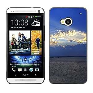 "For HTC One ( M7 ) , S-type Naturaleza Nube Sol"" - Arte & diseño plástico duro Fundas Cover Cubre Hard Case Cover"