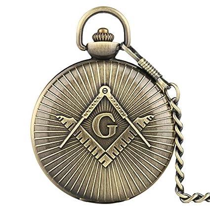 Amazon com: Vintage Men Watch Pocket |Masonic Freemason