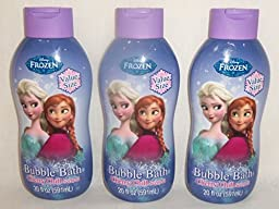Disney Frozen 3 Pack Bubble Bath - Cherry Chill - 20 Fluid Ounces Each