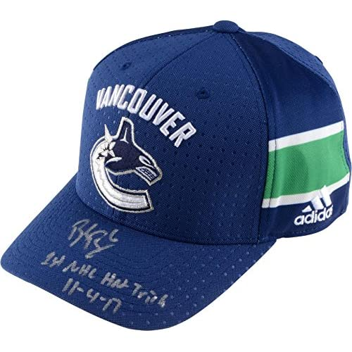 fb5003a7e1f Brock Boeser Vancouver Canucks Autographed Adidas Cap with 1st NHL Hat  Trick 11/4/