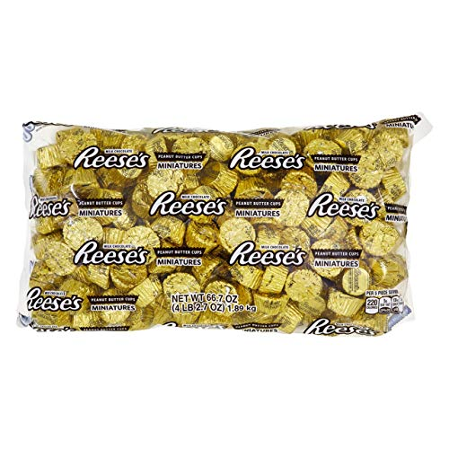 Purple And Gold Candy Buffet (REESE'S Peanut Butter Cup Miniatures, Gold Halloween Chocolate Candy, 66.7 Ounce Bulk Bag (About 205)