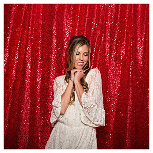 QueenDream Red Sequin Backdrop 7ftx7ft Photo Background Backdrop Photography Happy Birthday Party Background Background Fabric