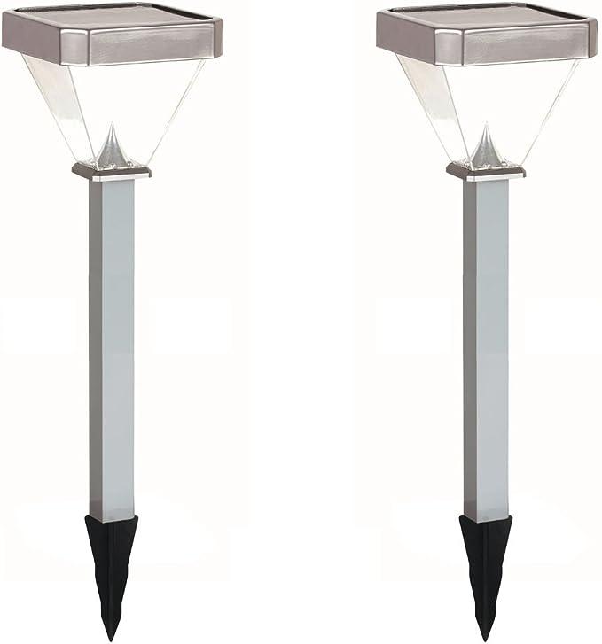 Globo Lighting - Juego de 2 lámparas solares LED con estaca, altura 60 cm, lámparas de jardín solares: Amazon.es: Iluminación