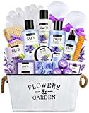 Mothers Day Gifts Lavender Essential Oil Spa Basket – Gardener Lavender Tin Gift Basket. Premium Bath Gift Basket for Birthday, Thank you, Anniversary Gift Best Holiday Spa Gift Set
