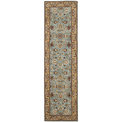 (Safavieh Heritage Collection HG958A Handcrafted Traditional Oriental Blue and Gold Wool Runner (2'3