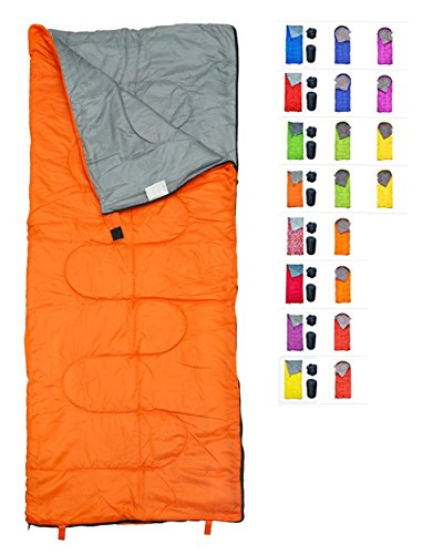 RevalCamp Lightweight Orange Sleeping Bag by Indoor & Outdoor use. Great for Kids, Youth & Adults. Ultralight and compact bags are perfect for hiking, backpacking, camping & (Sleeping Bags Kids)