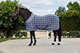 horse cooler 87 - Weatherbeeta Fleece Cooler Standard Neck Grey/Plaid 87