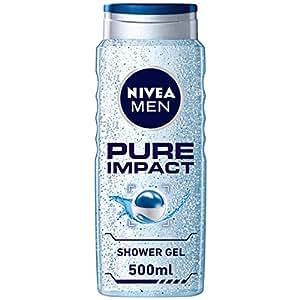NIVEA, MEN, Shower Gel, Pure Impact, 500ml