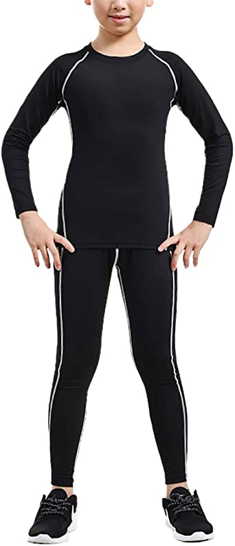 Amazon.com: zhxinashu Kids Sport Quick-Dry Compression Suits Thermal  Underwear Breathable Sportswear: Clothing
