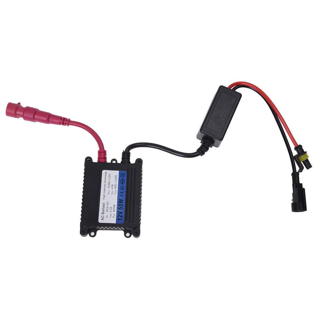 Xenon HID Vorschaltger/ät Lampe Slim 55 W Ersatz f/ür H1 H3 H4 H7 H8