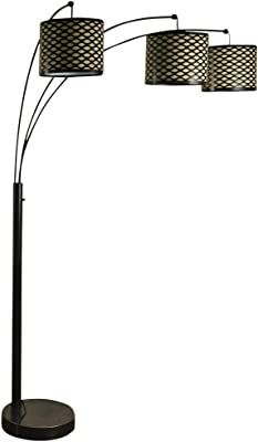 Kenroy Home 30674orb Crush Arc 3 Light Lamp With White