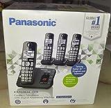 Panasonic Cordless Telephone with Answering Machine, 4 Handsets KX-TG3634B
