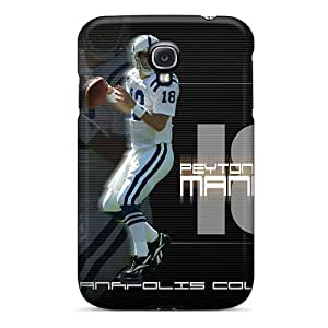 Scratch Protection Hard Phone Covers For Samsung Galaxy S4 With Unique Design Fashion Indianapolis Colts Pattern SherieHallborg