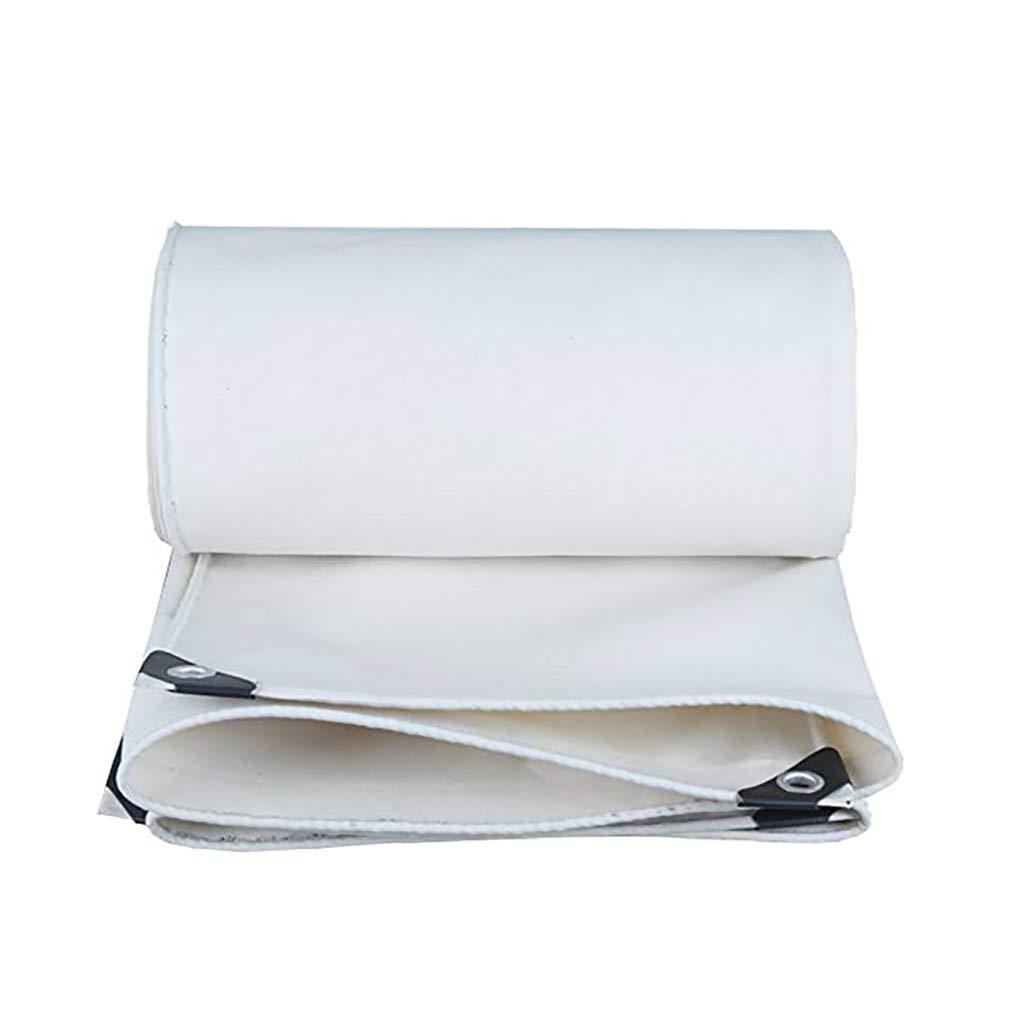 Weiße Wasserdichte Planen-Blatt-Plane im Freien, 500G / m², Stärke 0.8MM, 15 vorhandene Größe