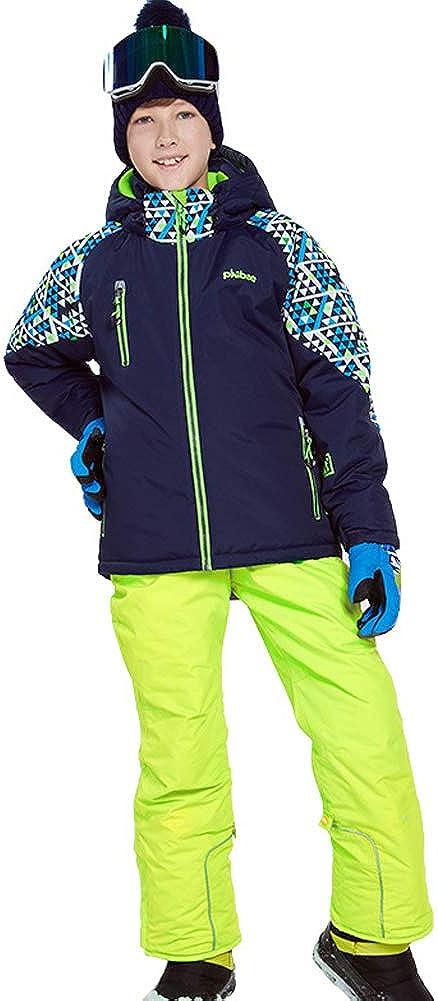 LSHEL Jungen und M/ädchen Skianzug Skihose Skijacke Snowboardhose Snowboardjacke Schneehose