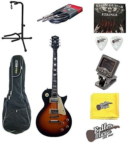 Oscar Schmidt oe20ts único LP Guitarra eléctrica w/funda, soporte y más: Amazon.es: Instrumentos musicales