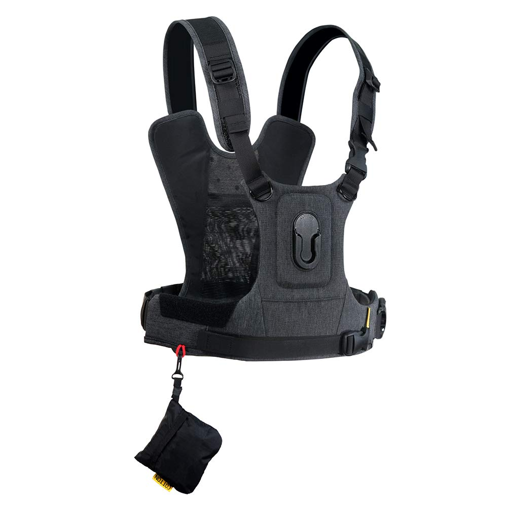 Cotton Carrier CCS G3 Camera Harness System for One Camera - Grey by Cotton Carrier