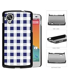 Plaid Design Pattern In Navy Blue Hard Plastic Snap On Cell Phone Case LG Nexus 5 by icecream design