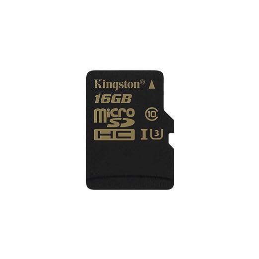 10 opinioni per Kingston Gold SDCG/16GBSP MicroSD UHS-I, Speed Class 3 (U3), 16 GB sin