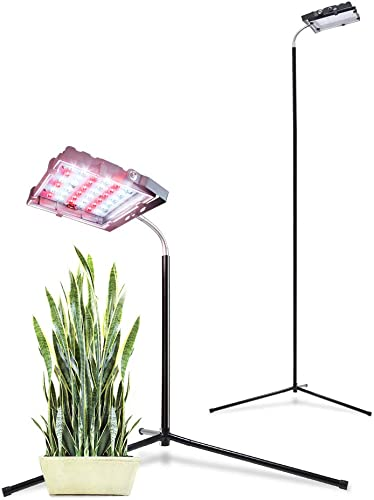 Aceple Floor Grow Light with Stand, 35W Warmwhite Grow Lamp with Flexible Gooseneck, Full Spectrum LED Plant Light for Indoor Plants Veg and Flower